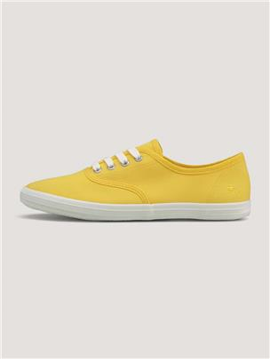 TOM TAILOR Effen stof sneakers, yellow