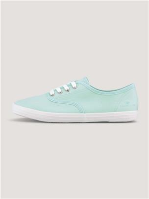 TOM TAILOR Effen stof sneakers, mint