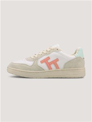 TOM TAILOR Sneakers met Logo, offwhite