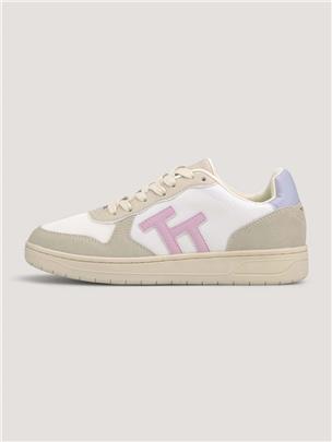 TOM TAILOR Sneakers met Logo, beige rose