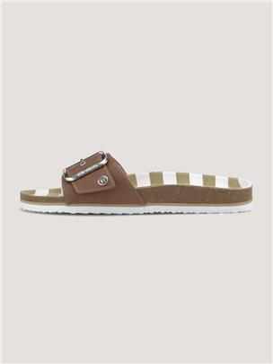 TOM TAILOR Sandalen met gesp, camel