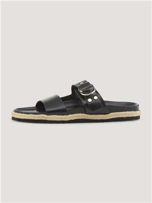 TOM TAILOR platte sandalen, black