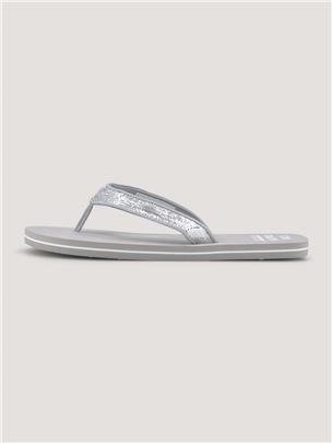 TOM TAILOR Metallic glitter teen separator, white-silver