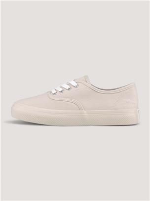 TOM TAILOR eenvoudige sneaker, offwhite