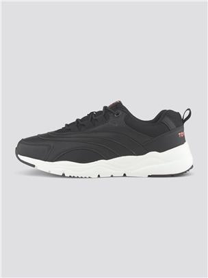 TOM TAILOR Sneakers met geborduurd logo, black
