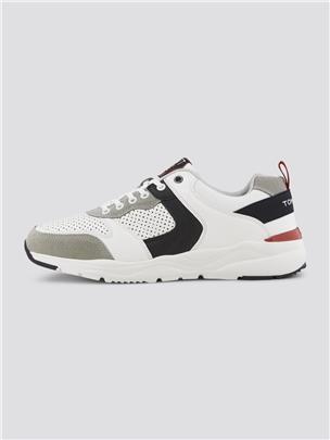 TOM TAILOR Sneakers in een patroonmix, white