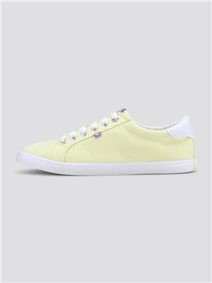 TOM TAILOR Eenvoudige stof sneakers, mint