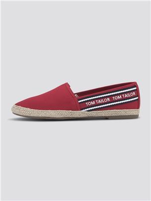 TOM TAILOR Stoffen slipper met belettering print, red