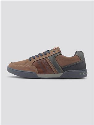 TOM TAILOR Imitatieleer sneakers, navy