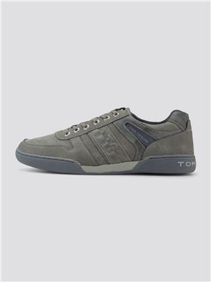 TOM TAILOR Imitatieleer sneakers, grey