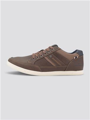 TOM TAILOR Imitatieleer sneakers, cognac
