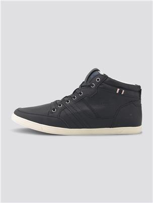 TOM TAILOR Imitatieleer sneakers, black