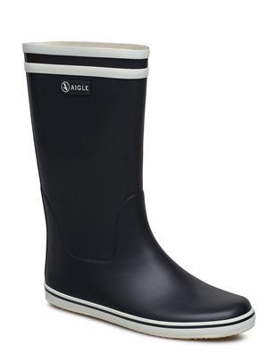 Ai Malouine Marine/Blanc Regenlaarzen Schoenen Zwart AIGLE