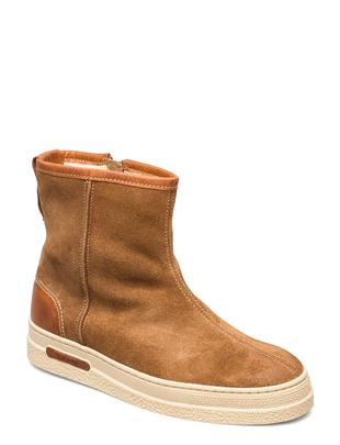 Maria Mid Zip Boot Shoes Boots Ankle Boots Ankle Boot - Flat Bruin GANT