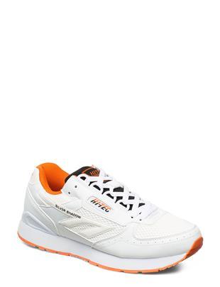 Ht Silver Shadow White/Black/Red Orange Lage Sneakers Wit HI-TEC