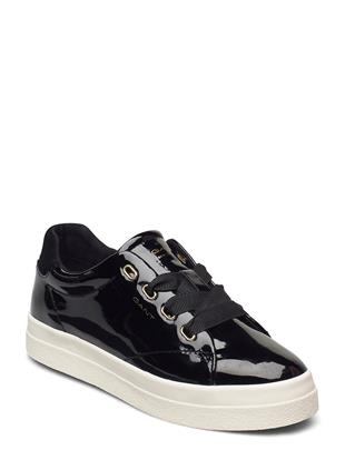 Avona Low Lace Shoes Lage Sneakers Zwart GANT