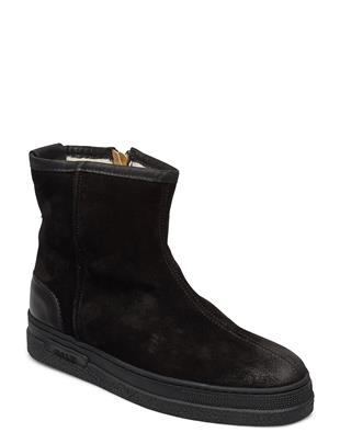 Breonna Mid Zip Boot Shoes Boots Ankle Boots Ankle Boot - Flat Zwart GANT