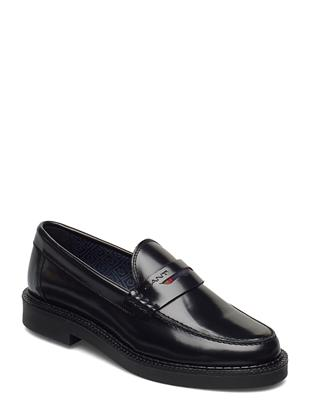 Kennedi Moccasin Loafers Lage Schoenen Zwart GANT