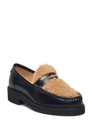Woodla Low Lace Shoes Loafers Lage Schoenen Zwart GANT