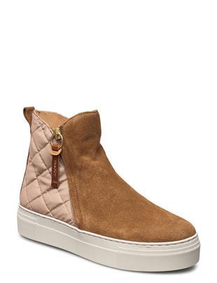 Vanna Mid Zip Boot Hoge Sneakers Beige GANT
