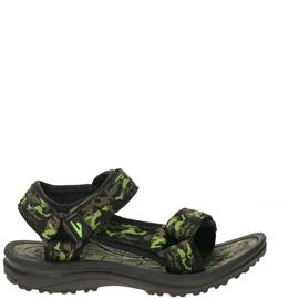 Shoetime Sandaal  Zwart/Groen