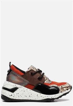 Mox Sneakers met slangenprint