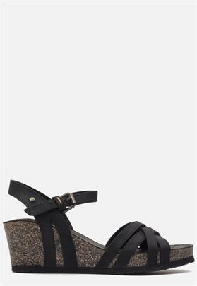 Panama Jack Vera Basics B1 sandalen met sleehak zwart