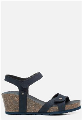 Panama Jack Julia Basics B10 sandalen met sleehak blauw