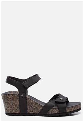 Panama Jack Julia Basics B1 sandalen met sleehak zwart