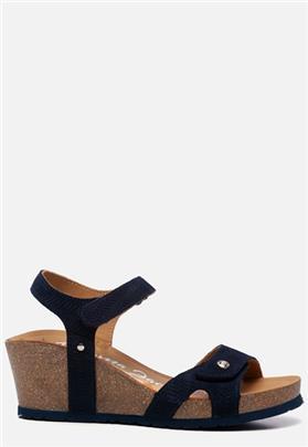 Panama Jack Julia Menorca B2 sandalen met sleehak blauw
