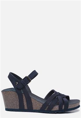 Panama Jack Vera Basics B7 sandalen met sleehak blauw