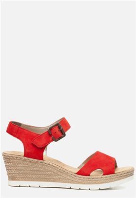 Rieker Sandalen met sleehak rood