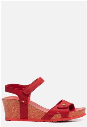 Panama Jack Julia Basics B16 sandalen met sleehak rood