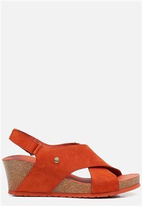 Panama Jack Valeska Basics B5 sandalen met sleehak oranje