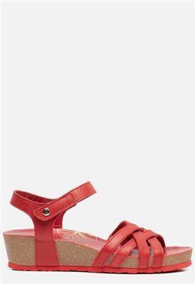 Panama Jack Chia Nacar B2 sandalen met sleehak rood