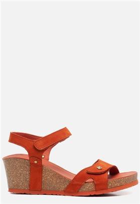 Panama Jack Julia Basics B15 sandalen met sleehak oranje