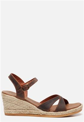 Panama Jack Benisa B800 sandalen met sleehak cognac