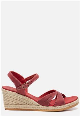 Panama Jack Benisa B806 sandalen met sleehak rood