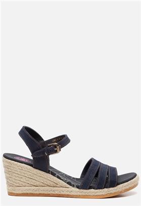 Panama Jack Isa B802 sandalen met sleehak blauw