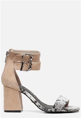 Supertrash Ayla sandalen met hak beige