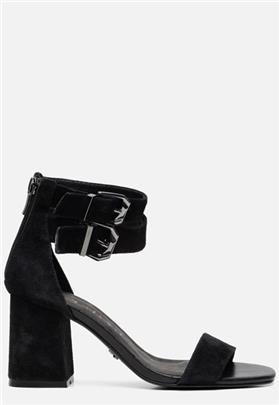 Supertrash Ayla sandalen met hak zwart