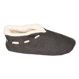 Dames Spaanse sloffen/pantoffels donkergrijs 37-38