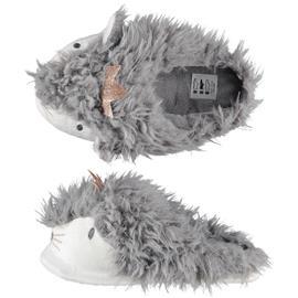 Dames lama/alpaca instap sloffen/pantoffels grijs 39-40