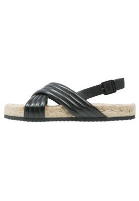 Pieces BEATRICE Sandalen met plateauzool black