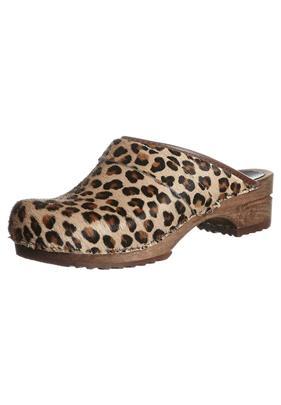 Sanita CAROLINE Clogs brown leopard