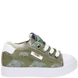 Shoesme Veterschoen Jongens Groen/Wit