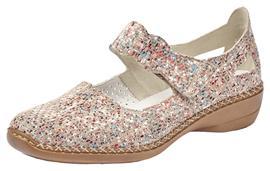 NU 20% KORTING: Rieker klittenbandschoenen in gemêleerde look