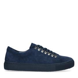 Donkerblauwe suède sneakers