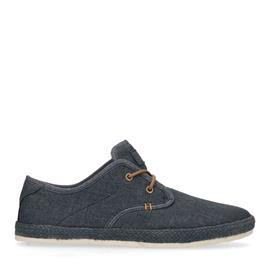 Blauwe sneakers met gewoven touwzool