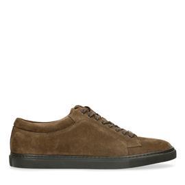 Donkergroene suède sneakers